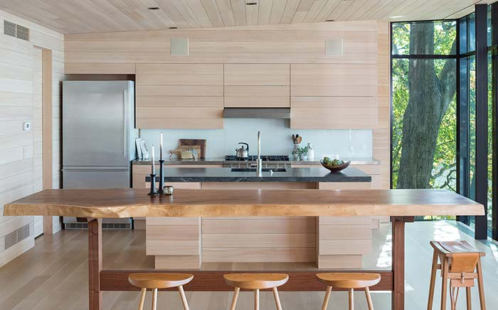 cozinha rústica minimalista