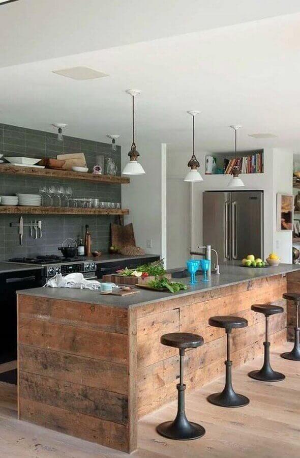 cozinha moderna com ardósia