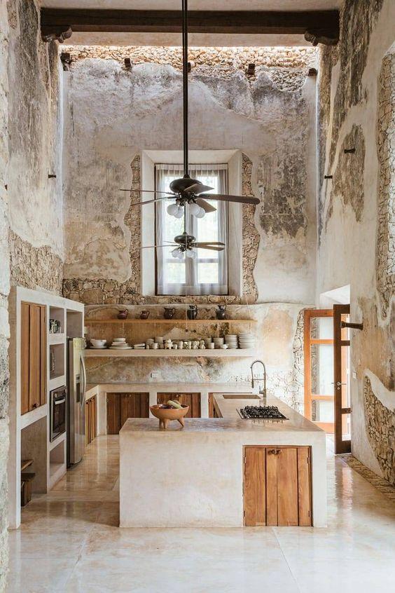 cozinha rústica com é direito duplo