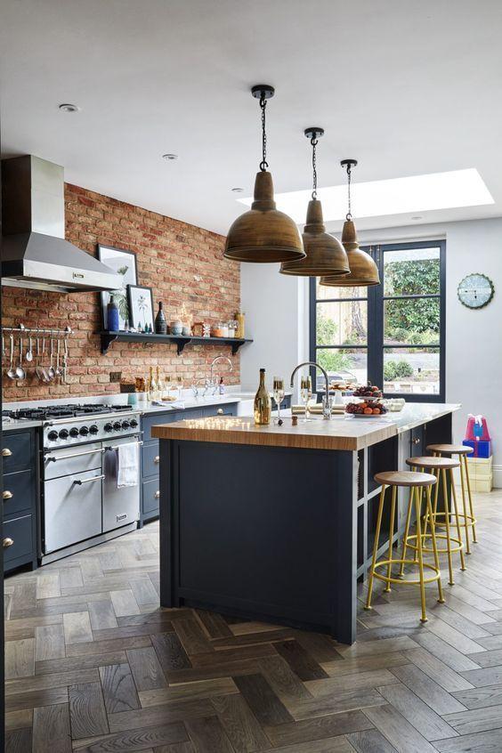 cozinha rustica moderna americana