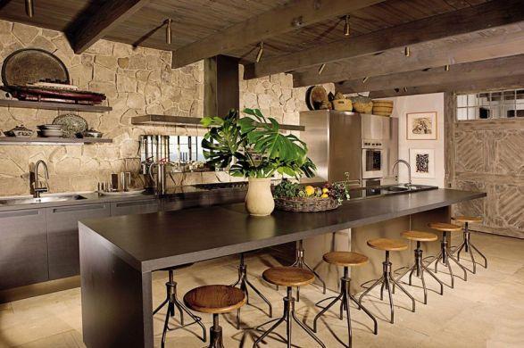 cozinha moderna com banquetas