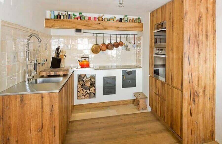 cozinha rústica simples e pequena