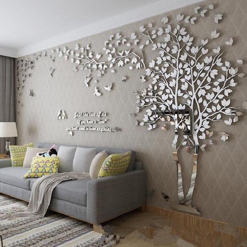 paredes com textura em espelhos
