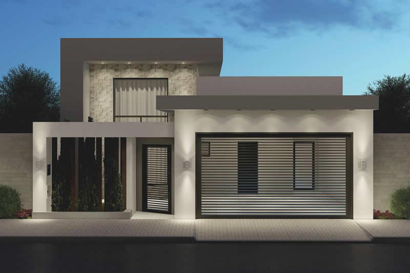 fachada moderno e clean