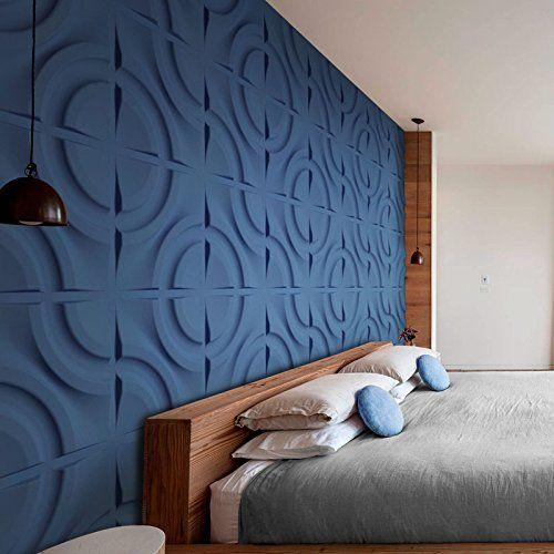 parede de gesso azul