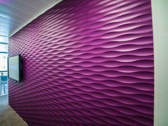 parede de gesso 3D roxo