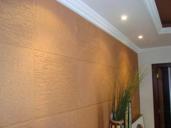 paredes com texturas em grafiato neutro