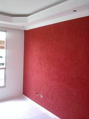 paredes com textura vermelha