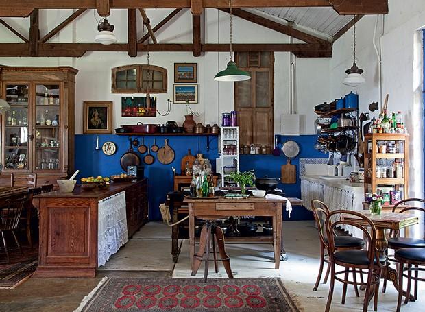 cozinha rústica tradicional