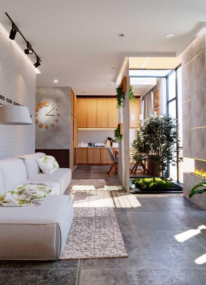Decoração de sala de estar moderna.