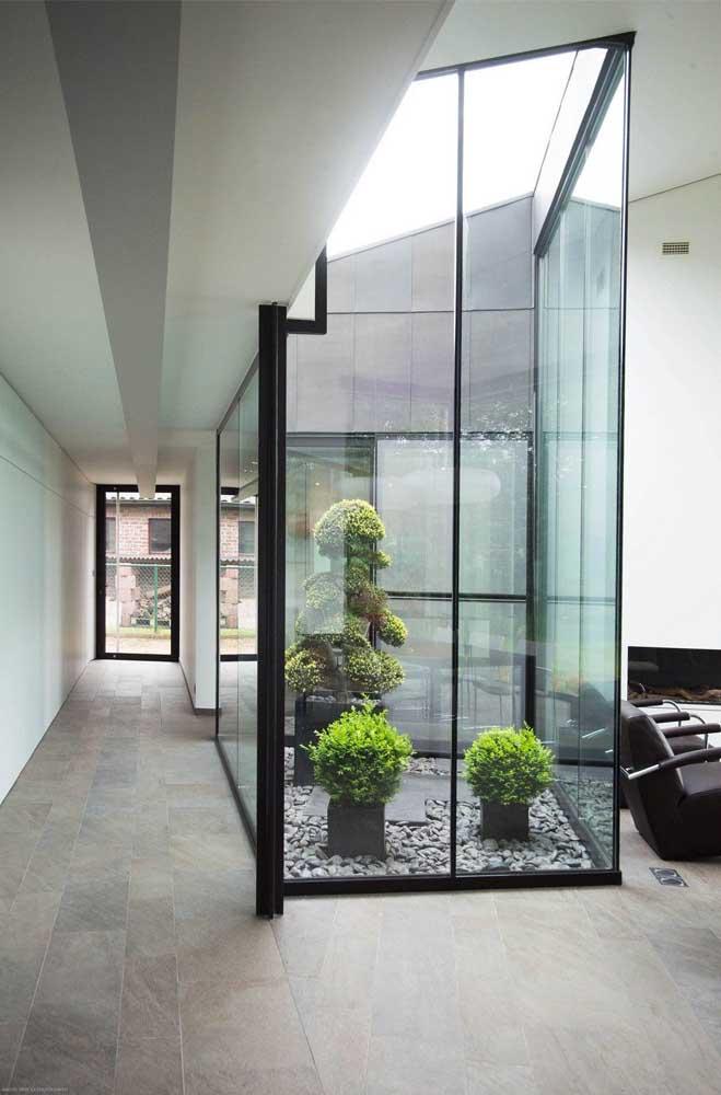 Casa com jardim de inverno moderno.