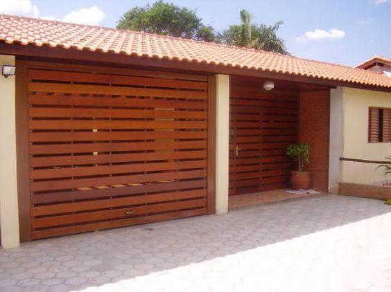 modelo de portão de madeira automático