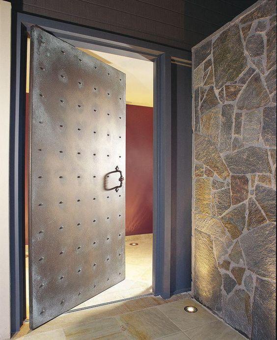 modelos de portas pivotante em aço