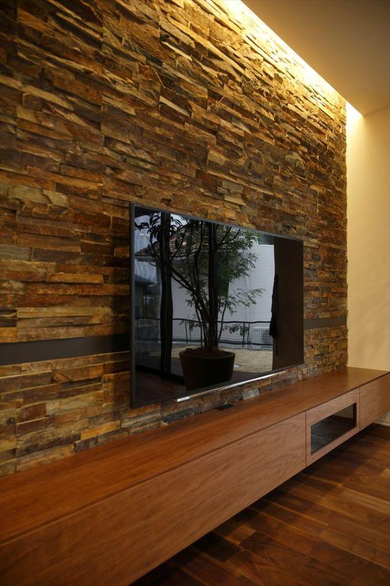 parede de pedra ferro