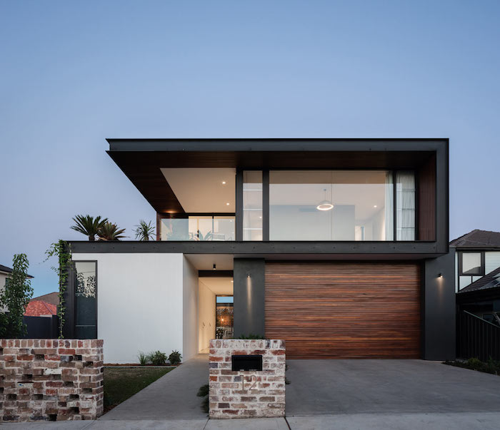 fachada moderna preta