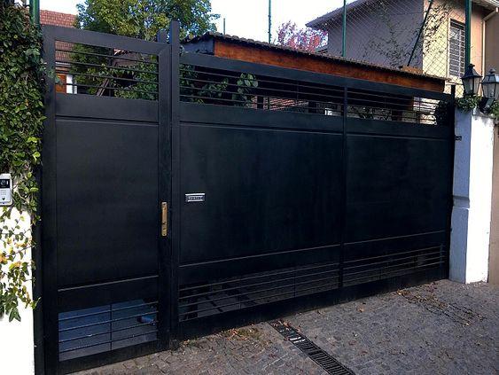 modelo de portão moderno preto