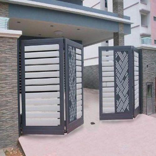 modelo de portão articulado de ferro