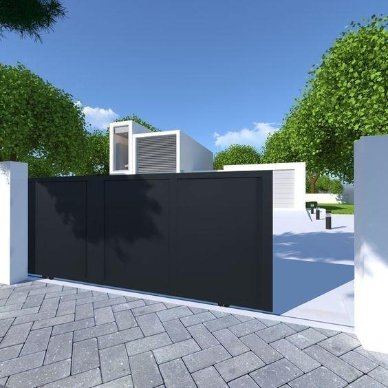 fachada preta e branca