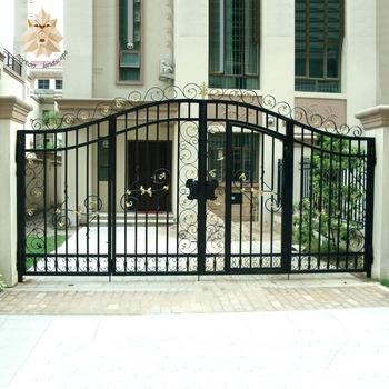 modelo de portão de abrir preto
