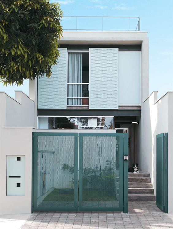 modelo de portão de alumínio colorido
