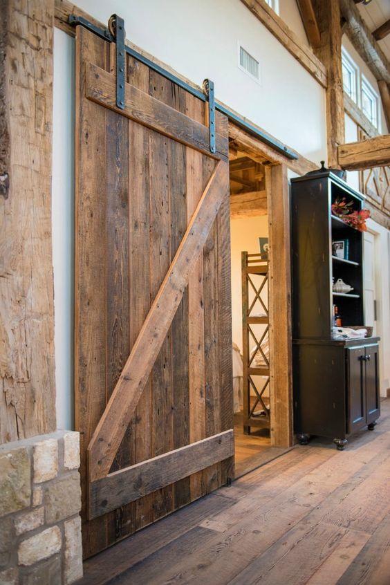 modelos de portas celeiros de madeira