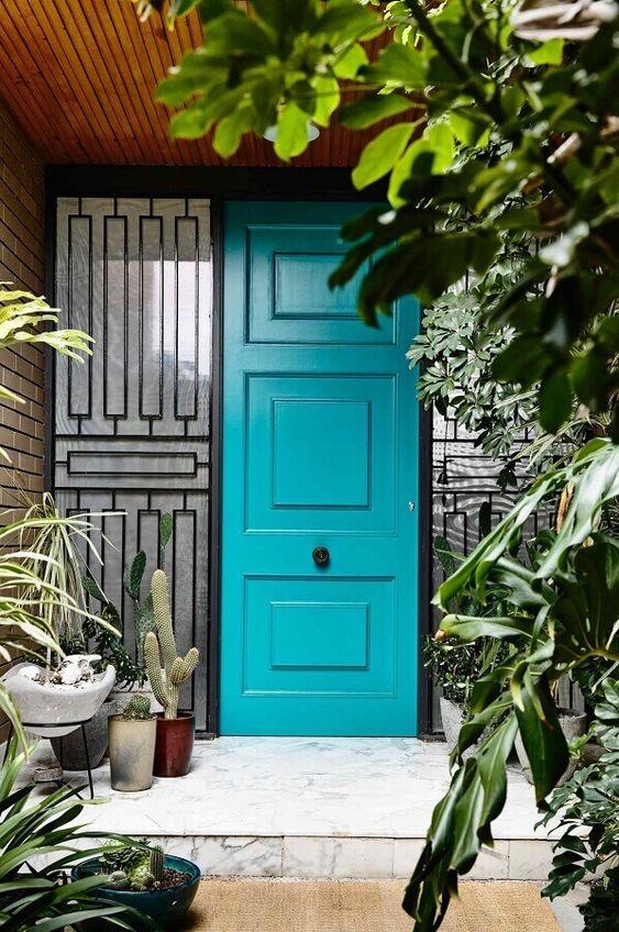modelos de portas em azul