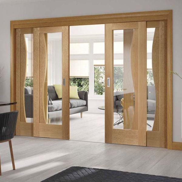 porta de correr de madeira interna