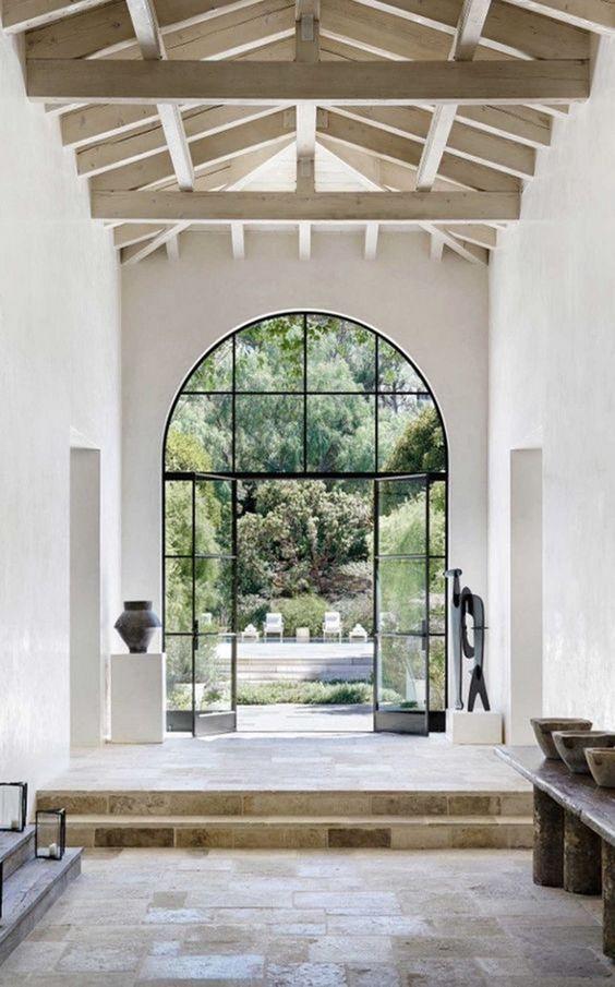 modelos de portas de vidro com metal