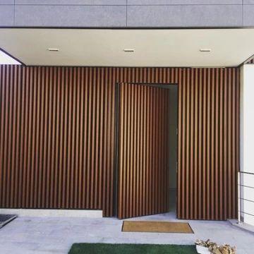 modelos de portas de madeira pivotante