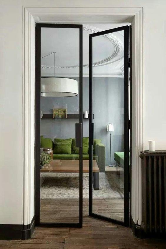modelo de porta de vidro.