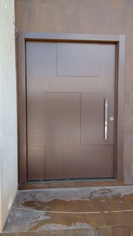 porta de metal cobre