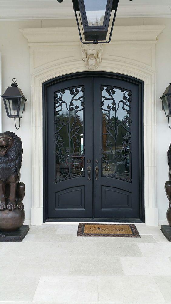 modelos de portas em ferro