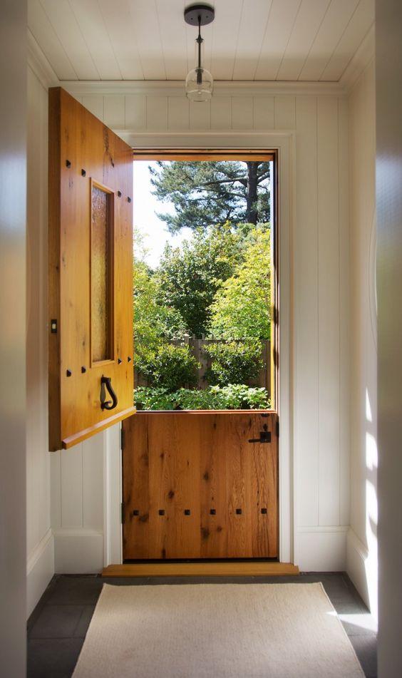 porta holandesa de madeira