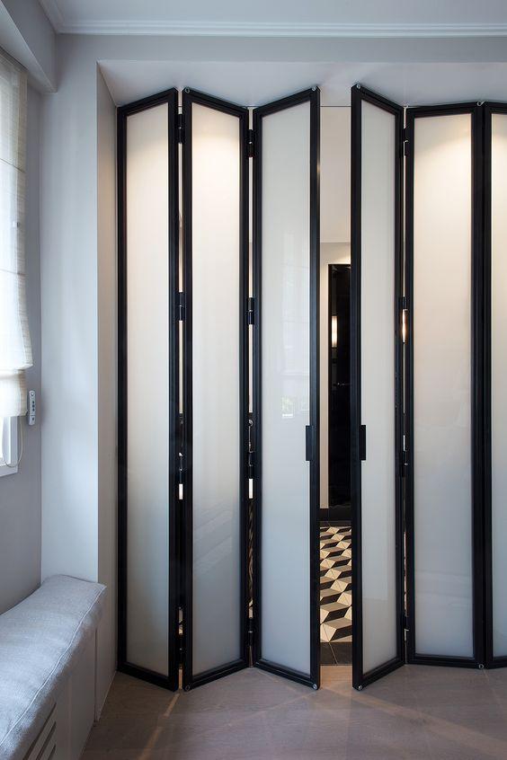 modelos de portas articuladas camarão preta
