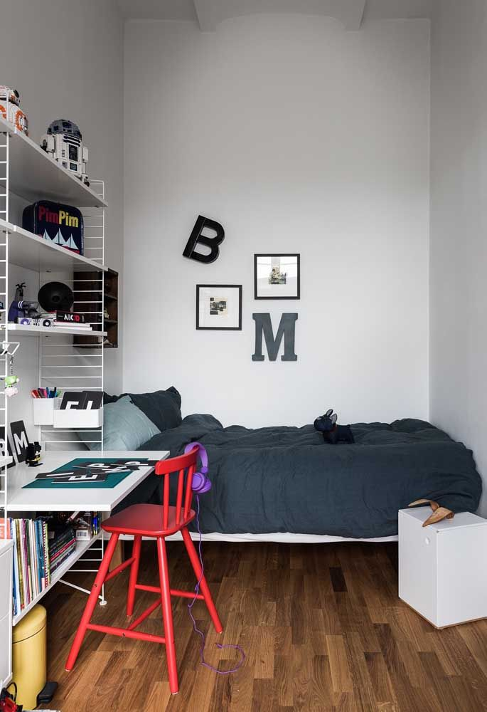 quarto simples para adolescente