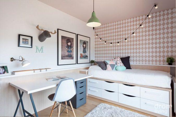 quarto pequeno planejado para adolescente