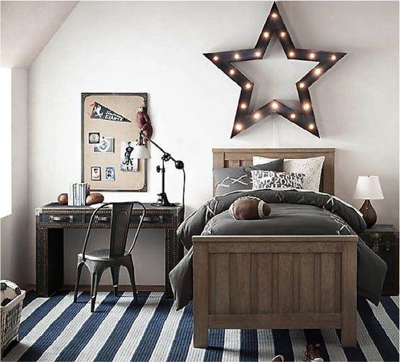 luminária estrela moderna