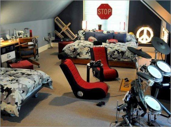 quarto adolescente gamer moderno