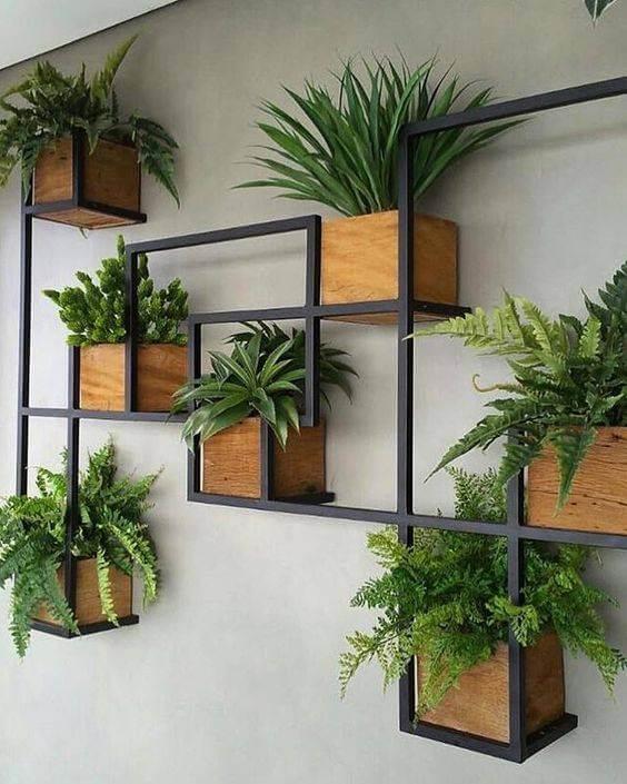 Suporte moderno para plantas.