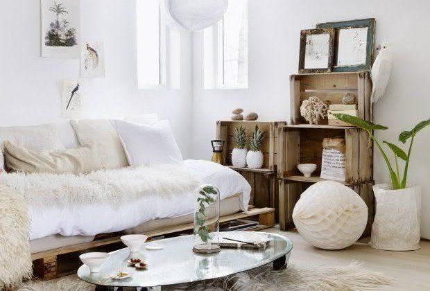 Sala de estar com decoração branco no estilo tumblr.