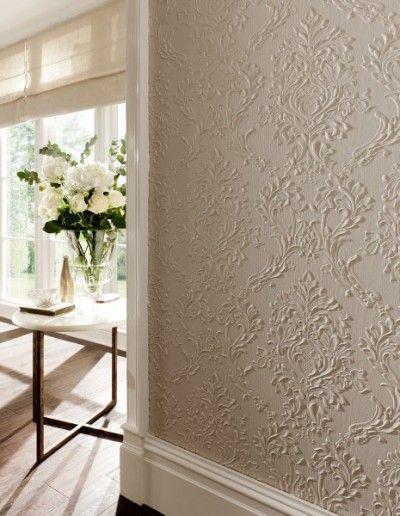 paredes com textura em alto relevo floral