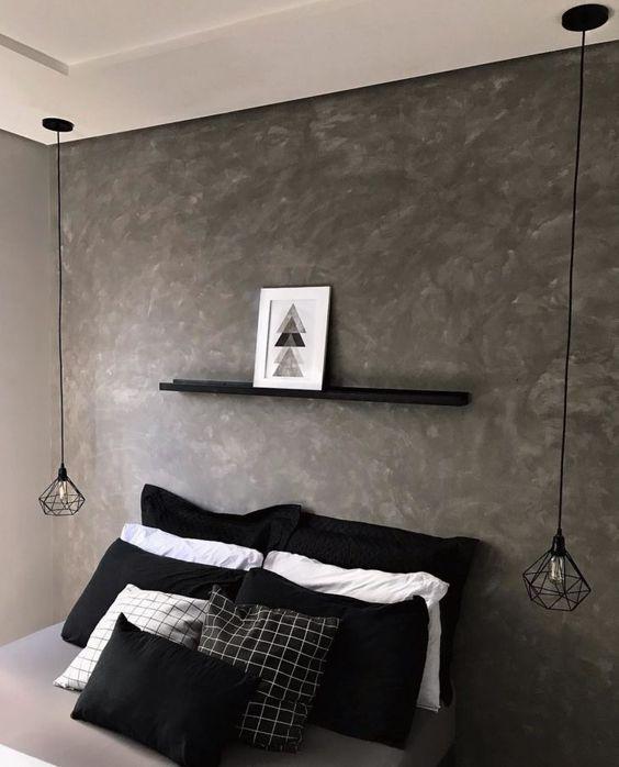 paredes com textura em cimento queimado