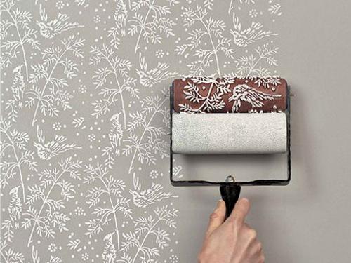 paredes com texturas  em rolo