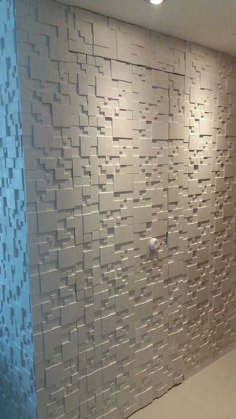 paredes com texturas em 3D