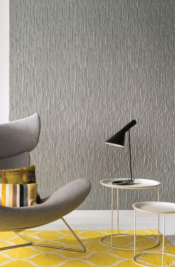 paredes com texturas em alto relevo cinza