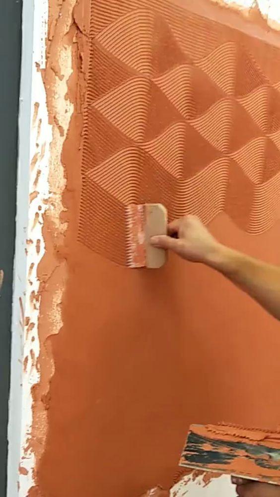 paredes com textura grafiato