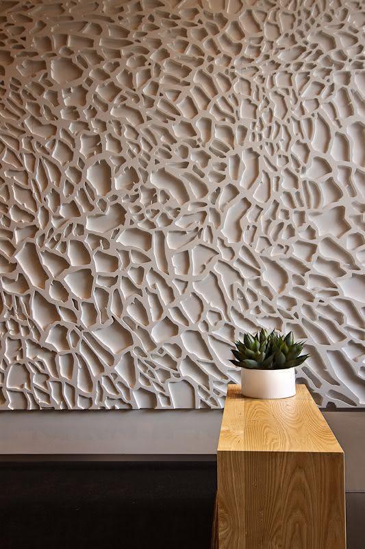 paredes com textura em gesso