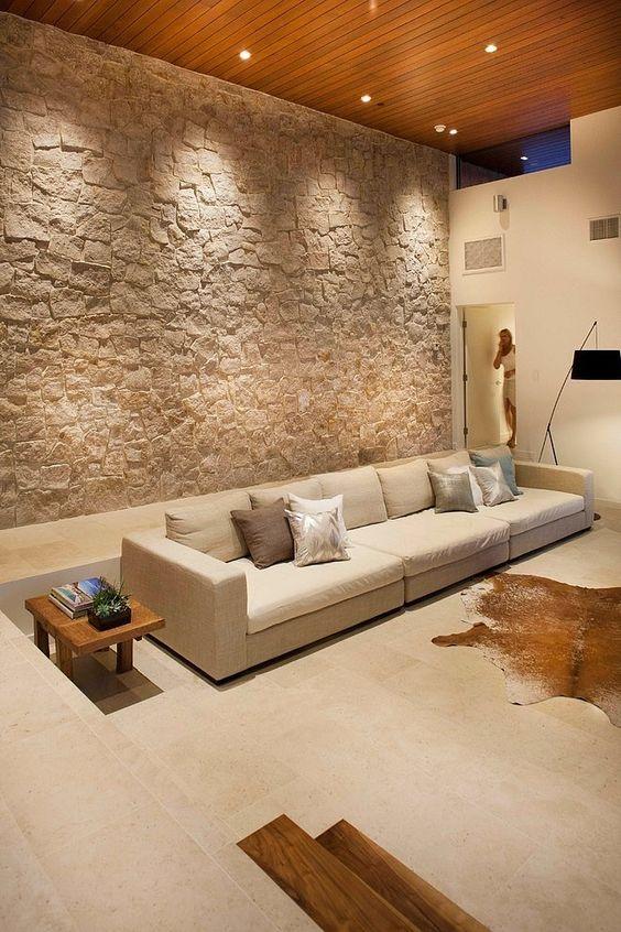 parede de pedras rústica