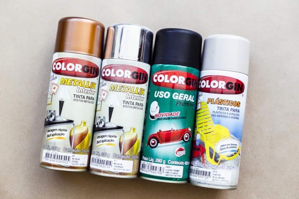 Tinta spray para MDF.