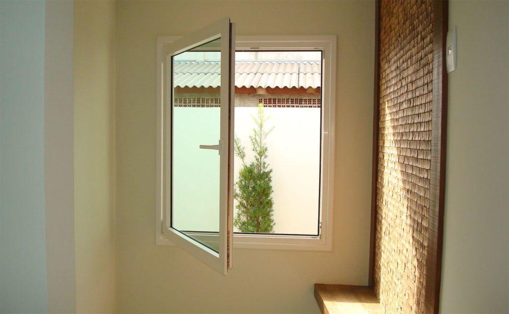 Modelos de janelas de abrir com uma folha.